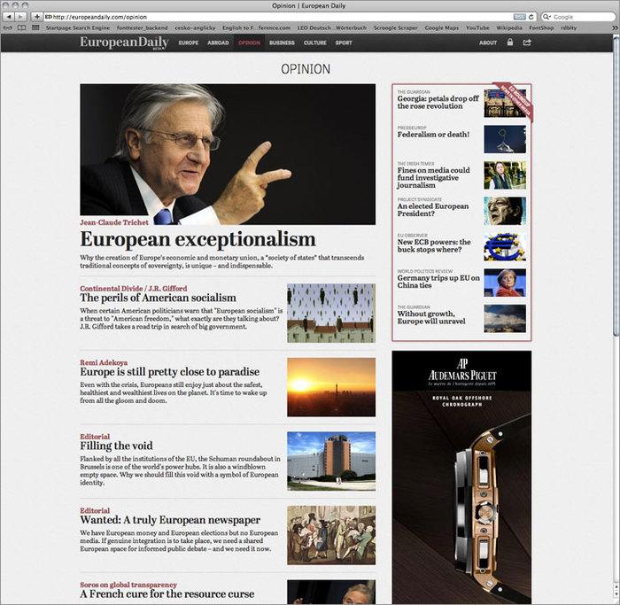 European Daily website 2