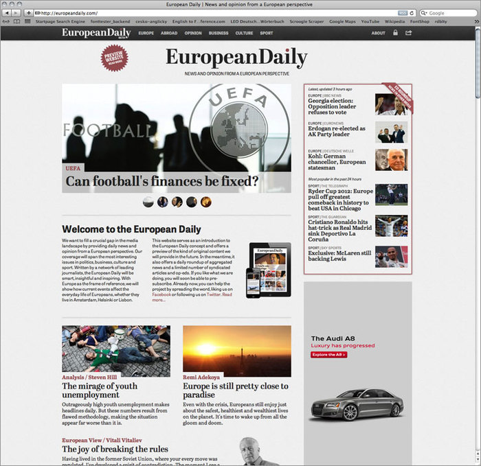 European Daily website 3