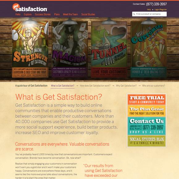 Website design from 2010