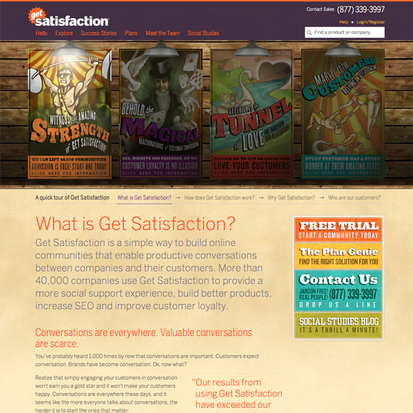 Website design from 2010