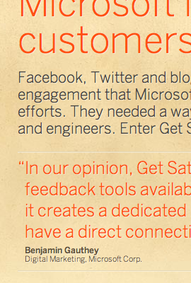 Get Satisfaction website 1