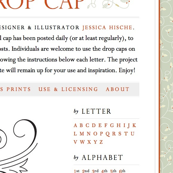 Daily Drop Cap website 2