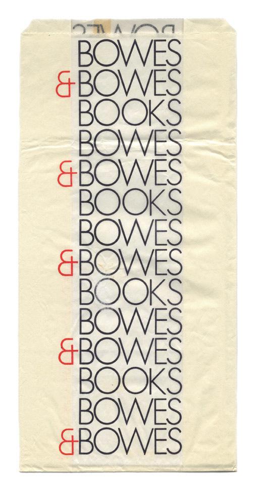 Bowes & Bowes shopping bag