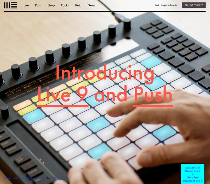 Ableton website 1