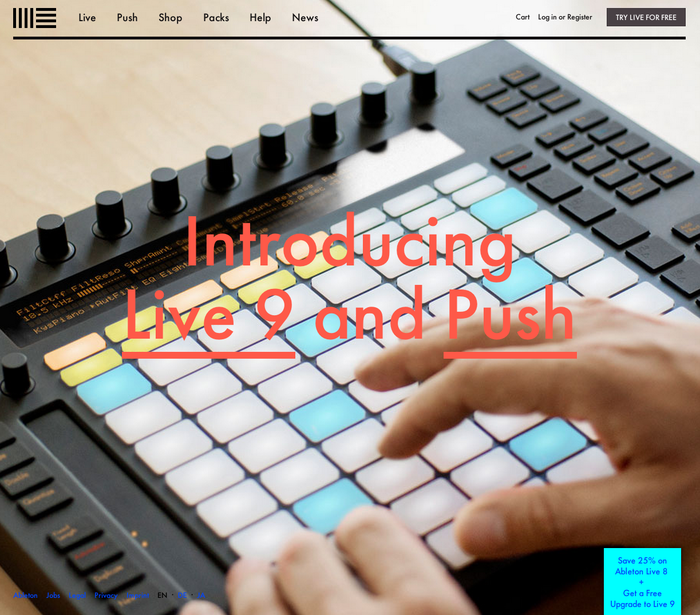 Ableton website 1