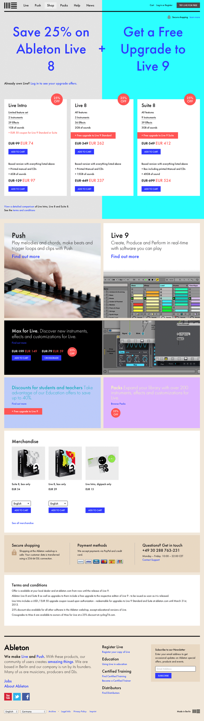 Ableton website 2