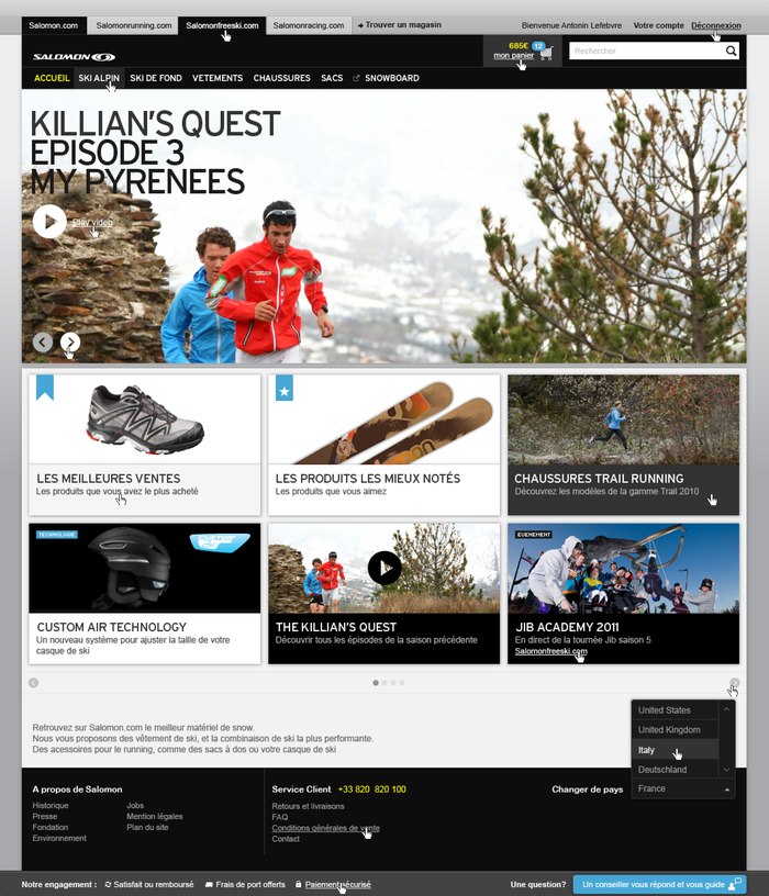 Salomon Website 1