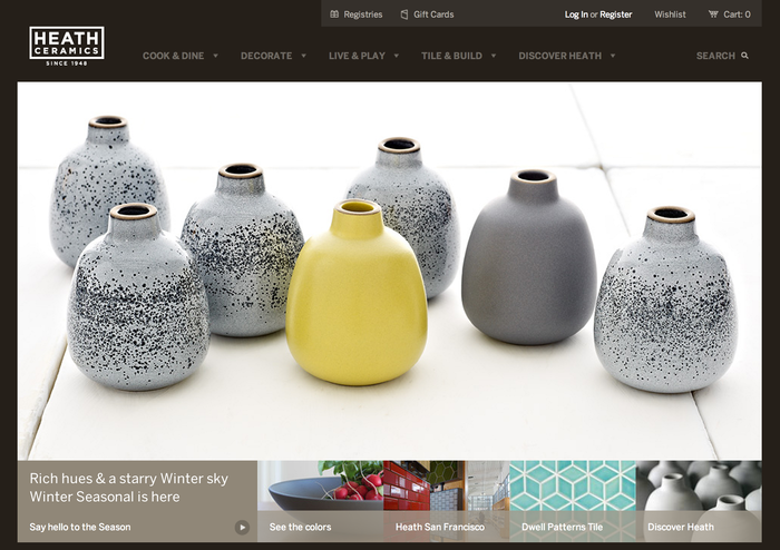 Heath Ceramics Website 2