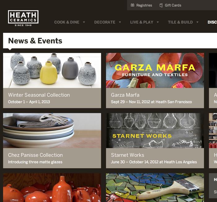 Heath Ceramics Website 6