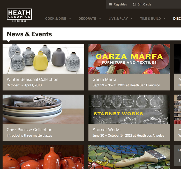 Heath Ceramics Website 6