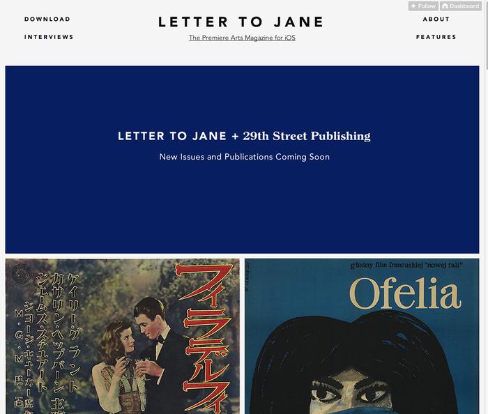 Letter to Jane Website 3