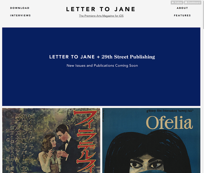 Letter to Jane Website 3