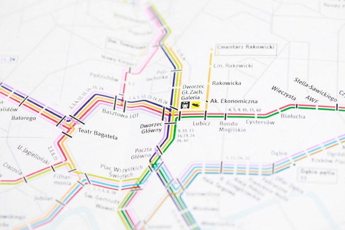 Krakow Transport Map 4