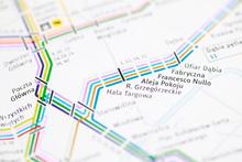 Krakow Transport Map