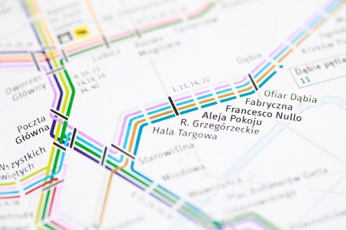 Krakow Transport Map 3