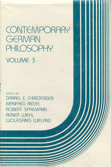 <cite>Contemporary German Philosophy<cite>