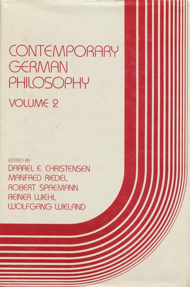 Contemporary German Philosophy 2