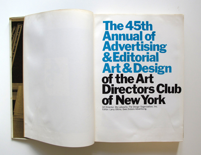 The 45th Annual of Advertising & Editorial Art & Design of the Arts Directors Club of New York 2
