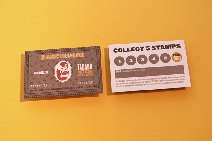 Taqado - 'Banco De Taqado' Loyalty Card