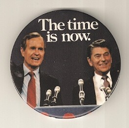 Ronald Reagan 1980 presidential campaign buttons 2