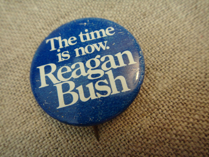 Ronald Reagan 1980 presidential campaign buttons 3