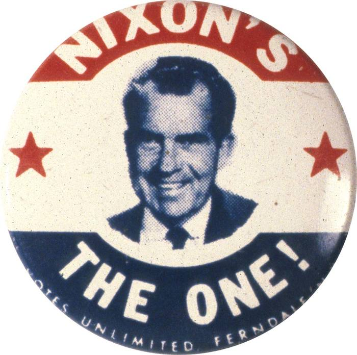 Richard Nixon 1968 presidential campaign buttons 1