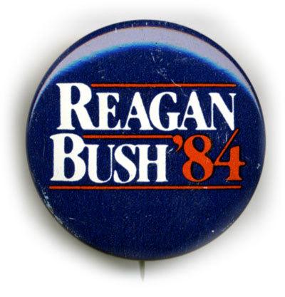 Ronald Reagan 1984 presidential campaign button