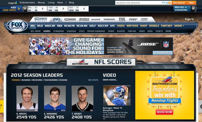 FOX Sports Website 1