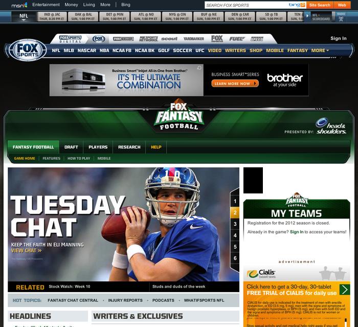 FOX Sports Website 2