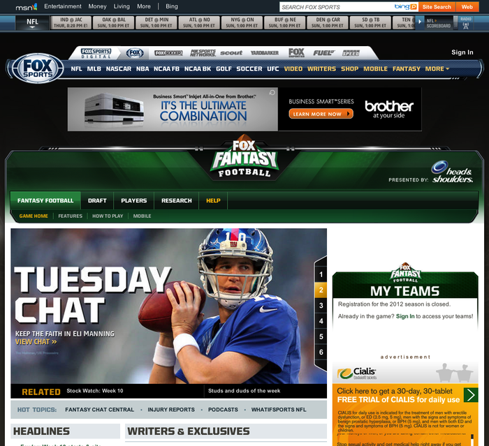 FOX Sports Website 2