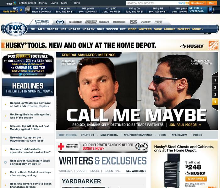 FOX Sports Website 3