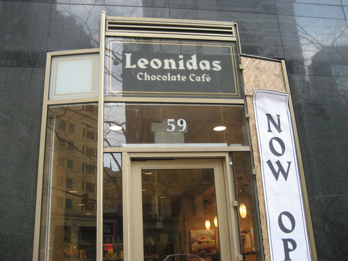 Leonidas Chocolate Café, Chicago.