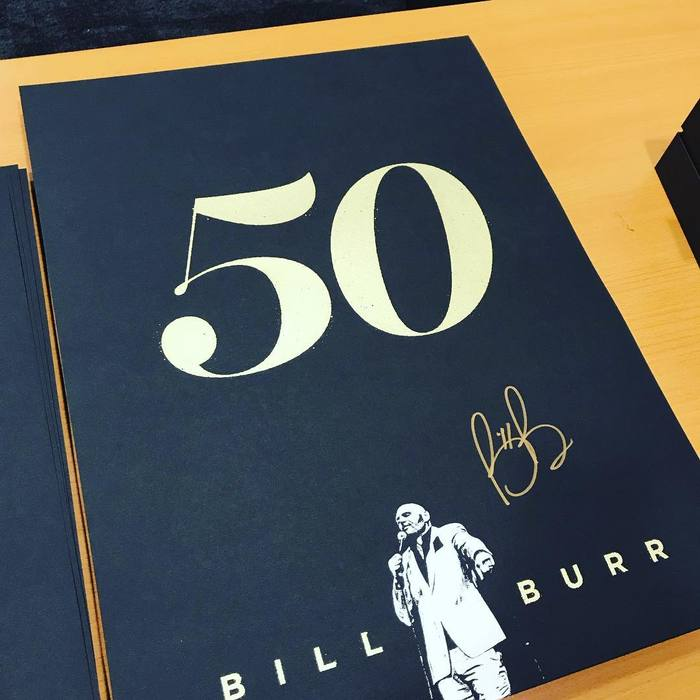 "Bill Burr ""50"" tour poster 2"