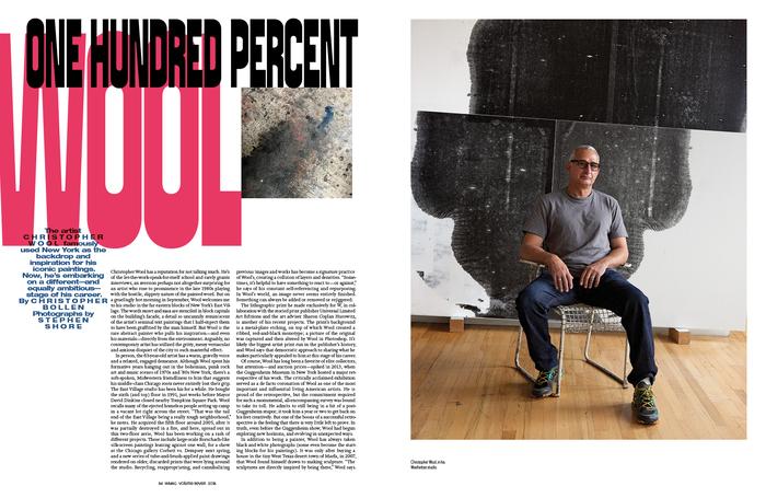 """W magazine, November 2018, """"The Art Issue"""" 4"""