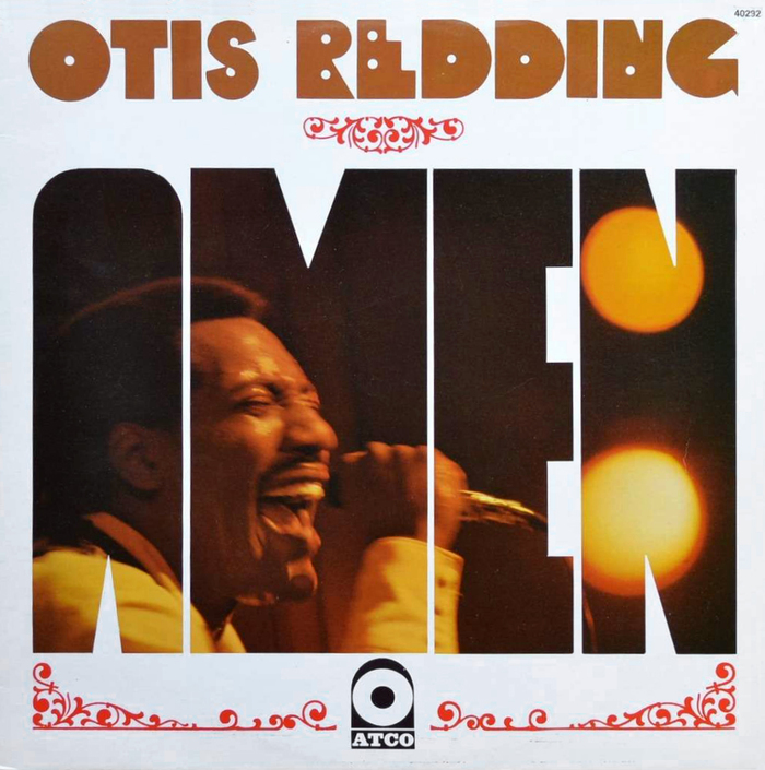 The Immortal Otis Redding was released in France under the title Amen as Atco 3011 in 1968 [Discogs]. Photo by Jean-Pierre Leloir. The image shows a later reissue (40292) with the same cover design. The artist's name uses the same lettering emulating Baby Teeth that can be seen on the series of singles.