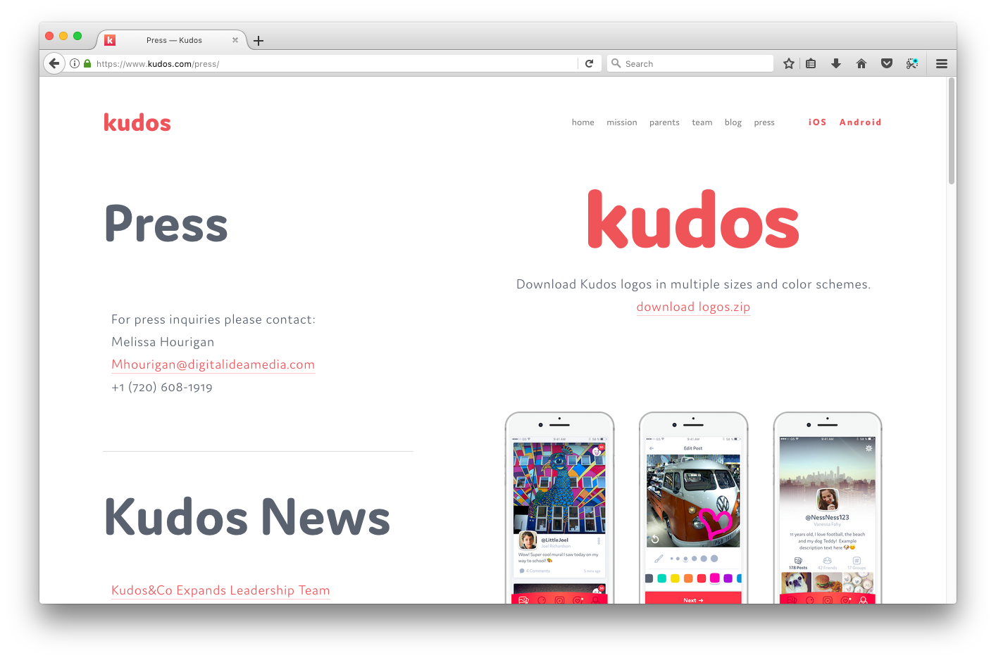 Kudos - Fonts In Use