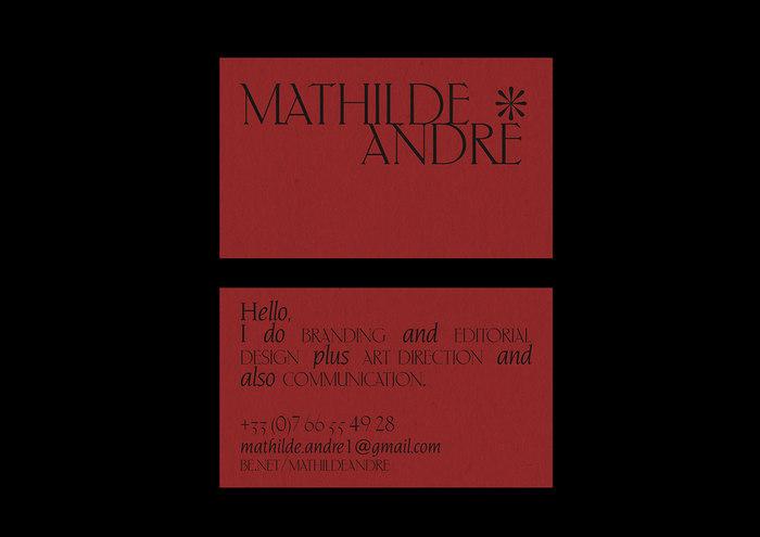 Mathilde André identity 1