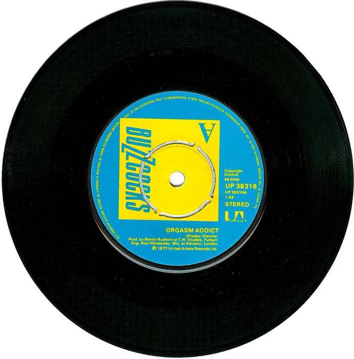 7″ record with small print on the label  in .