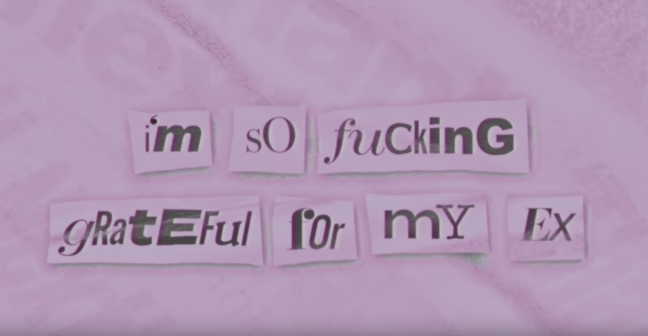 "Ariana Grande, ""thank u, next"" lyric video - Fonts In Use"
