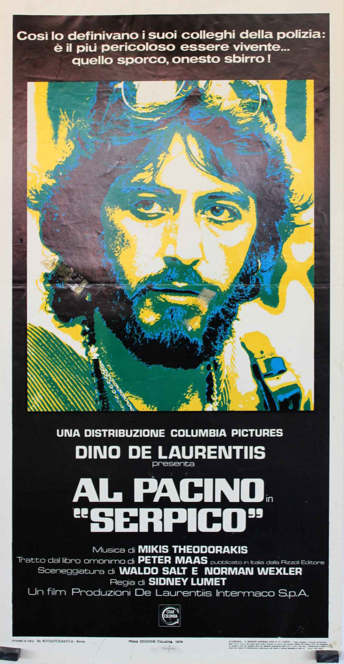 The Italian movie poster maintains the typographic choices made for the US original, but adds another (extended) style of Eurostile.