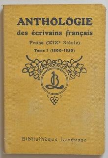 <cite>Anthologie des écrivains français</cite>, Bibliothèque Larousse