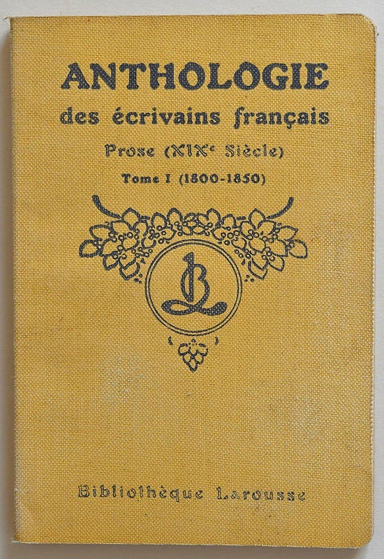 Prose (XIXe siècle), Tome I (1800–1850)