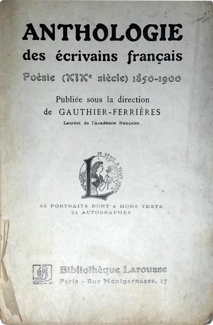Poésie (XIXe siècle). Title page.