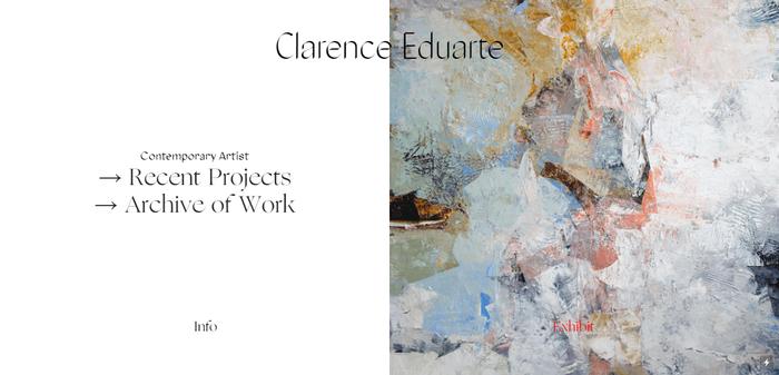 Clarence Eduarte website 1