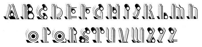 Glyph set of Allsorts as shown in an undated catalog by Face. Scan courtesy of Mathieu Triay – thanks!