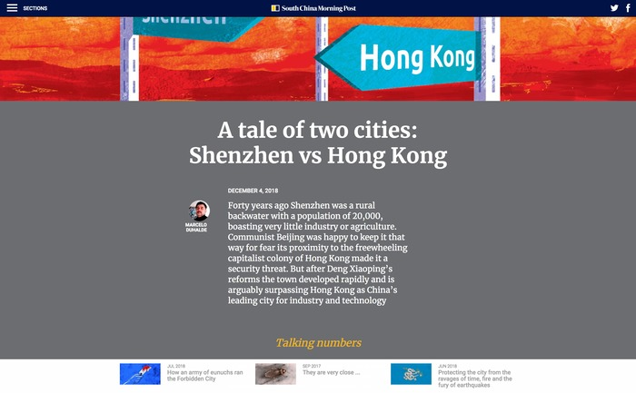 South China Morning Post website 3