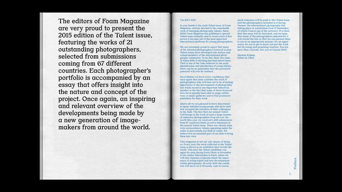 """Foam magazine #42, """"Talent"""" 5"""
