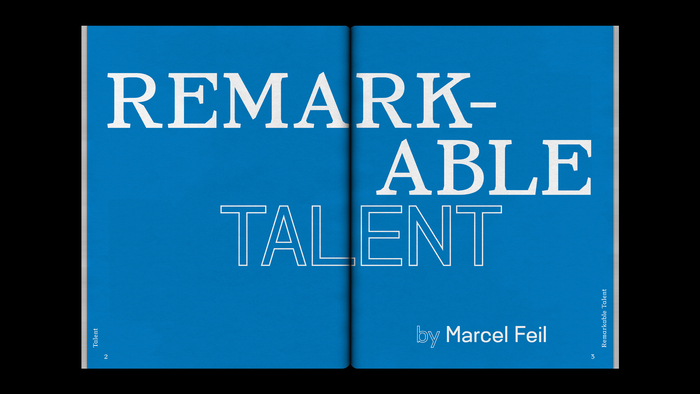 """Foam magazine #42, """"Talent"""" 6"""