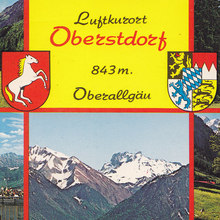 Luftkurort Oberstdorf postcard