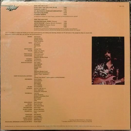 Apostrophe (') – Frank Zappa 2